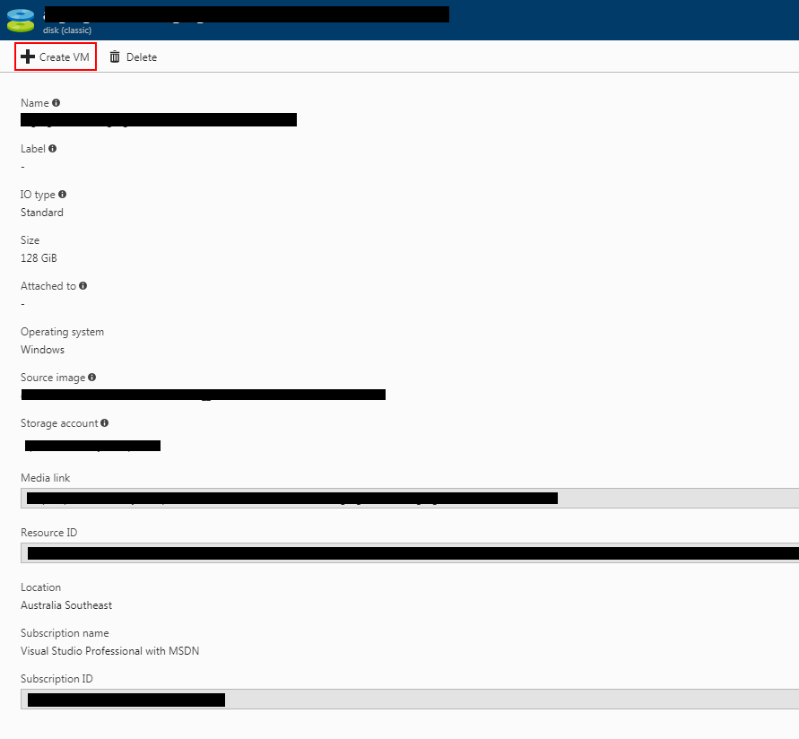 Azure Create VM Screenshot